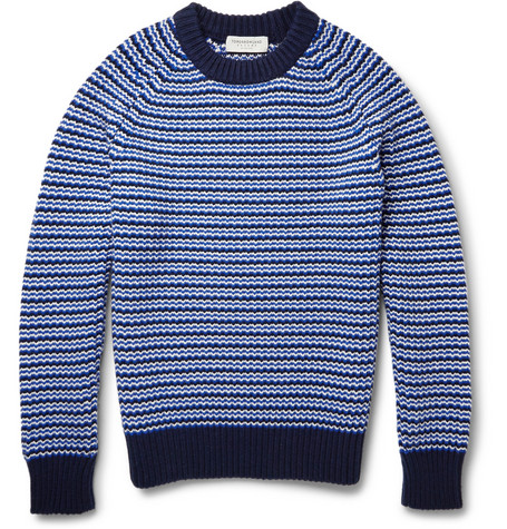 Tomorrowland Patterned Wool And Cashmere Blend Sweater Mr Porter