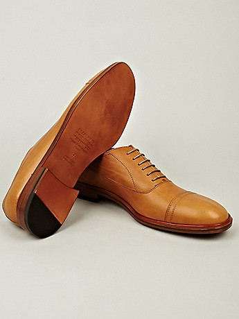 Maison Martin Margiela 22 Men s Leather Oxford Shoe in natural tan at oki ni