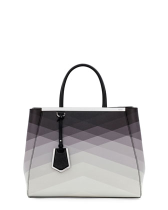 Fendi 2Jours Medium Tote Bag Black Pattern Neiman Marcus