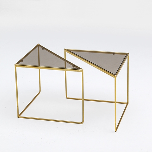 City Furniture 80'S Fab Geometric Triangular Form Tables