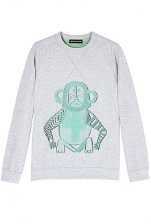 Monkey Sweatshirt By Ostwald Helgason