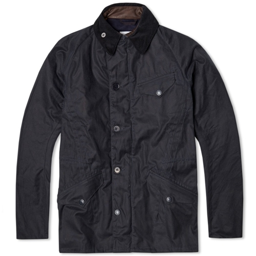 Barbour X Norton Sons Row Waxed Jacket Navy