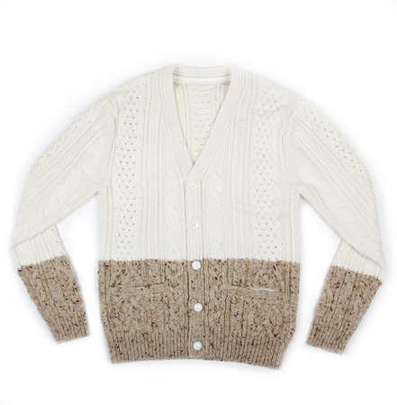 Sacai Cable Knit Split Cardigan buy online Union Los Angeles