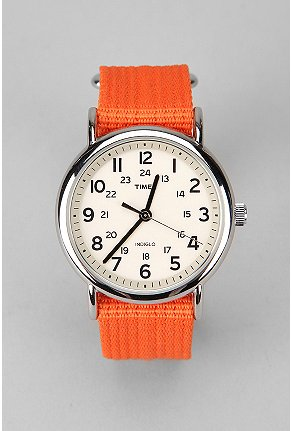 UrbanOutfitters com Timex Weekender Slip Thru Band Watch