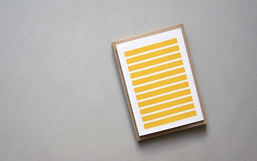 Stripetown Yellow Karte Design Fabrik