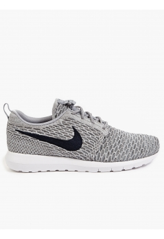 Men's Grey Flyknit Roshe Run Sneakers