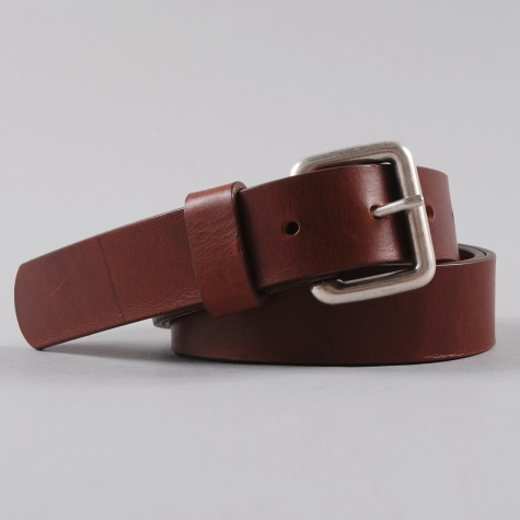 Norse Projects Benjamin 30 Leather Belts Raw Brown