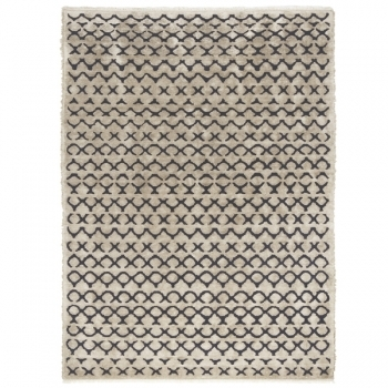 Oyo rug natural linen dark grey Carpets Decoration Finnish Design Shop