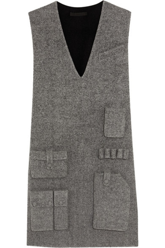 Alexander Wang Wool Blend Twill Mini Dress Net A Porter.Com