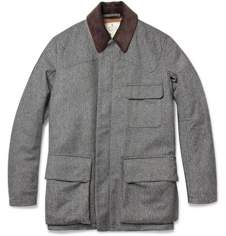 Private White V C Herringbone Wool Jacket MR PORTER