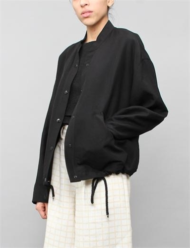 Creatures Of Comfort Allie Jacket Silk Linen Black