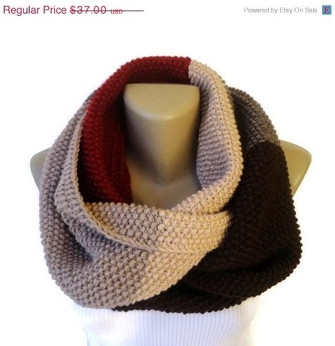 On Sale Knit Women Scarves Knit Infinity Scarf By Senoaccessory