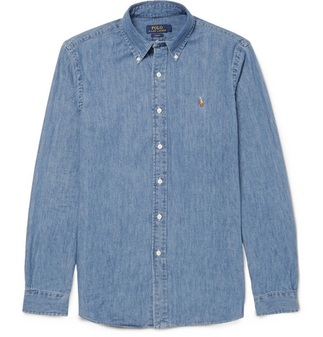 Polo Ralph Lauren Slim Fit Cotton Chambray Shirt Mr Porter