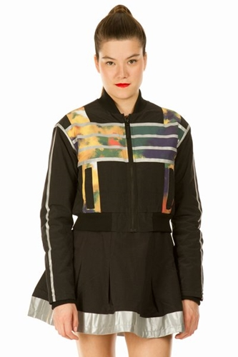 ADIDAS ORIGINALS X OPENING CEREMONY REFLECT CROPPED ZIP DOWN BOMBER WOMEN LONDON POP UP ADIDAS ORIGINALS X OPENING CEREMONY