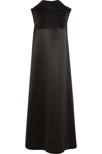 The Row Wool And Silk Blend Satin Midi Dress Net A Porter.Com