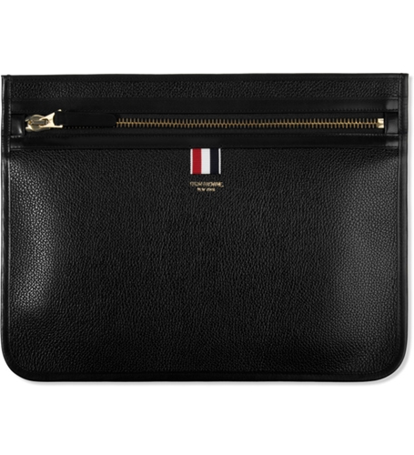 Thom Browne Black Leather Document Holder Hypebeast Store. Shop Online For Men's Fashion Streetwear Sneakers Accessories