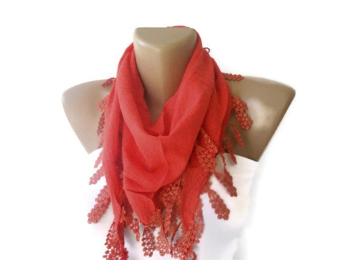 Red Cotton Scarf 2014 Fashion Scarf Trend By Senoaccessory