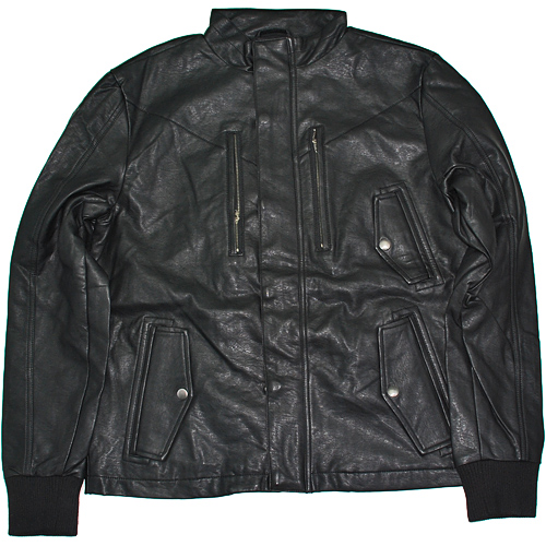 NIGHT RIDER LEATHER JACKET BLK NUBIAN ヌビアン