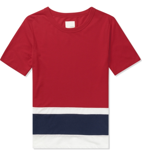 Band Of Outsiders Tango Red Ss Panel Stripe T Shirt Hypebeast Store