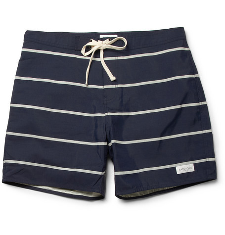Saturdays Surf NYC Striped Swim Shorts MR PORTER