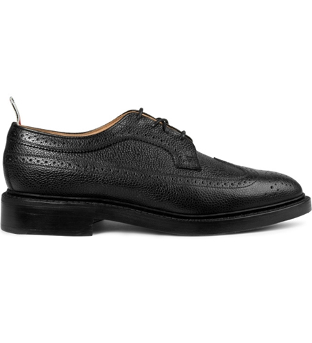 Thom Browne Black Leather Wingtip Brogues Shoes Hypebeast Store. Shop Online For Men's Fashion Streetwear Sneakers Accessories