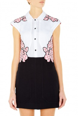 Carven Floral Gingham Dress By Carven