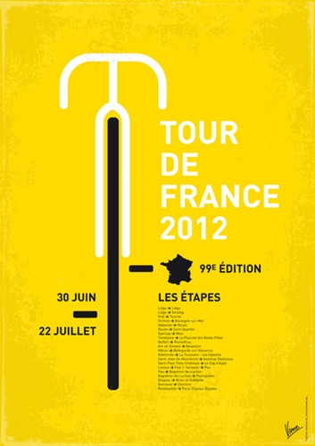 My Tour de France Minimal Poster Art Print by Chungkong Society6