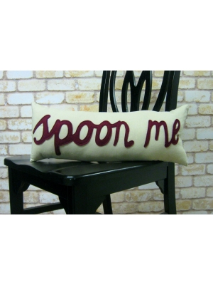 Spoon Me Pillow Cranberry Only 53.49 Unique Gifts Home Decor Karma Kiss