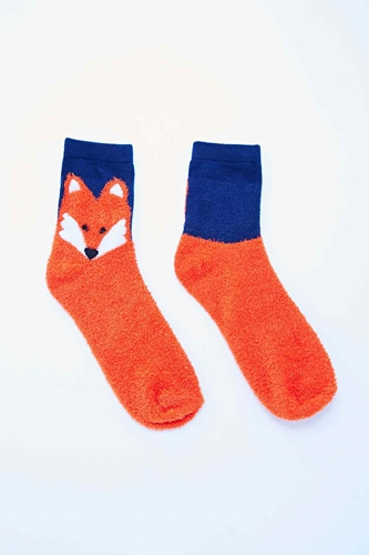 Fluffy Fox Slipper Socks Urban Outfitters