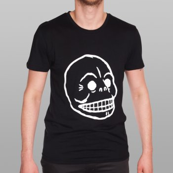 Cheap Monday T Shirt Black Bruce Skull Buy Mens Designer Clothing At Denim Geek Online