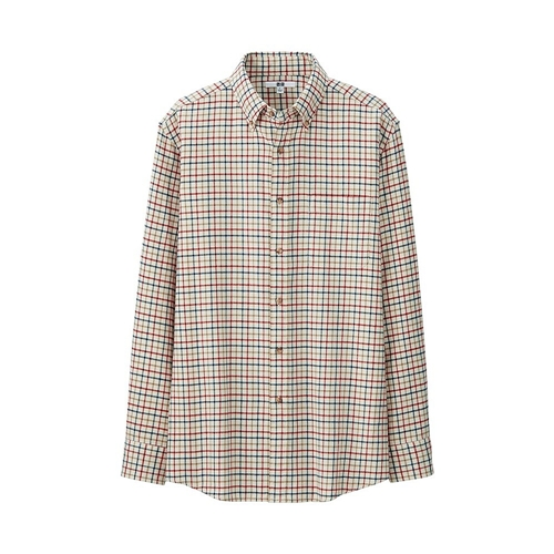 Men Flannel Check Long Sleeve Shirt Uniqlo Uk Online Fashion Store