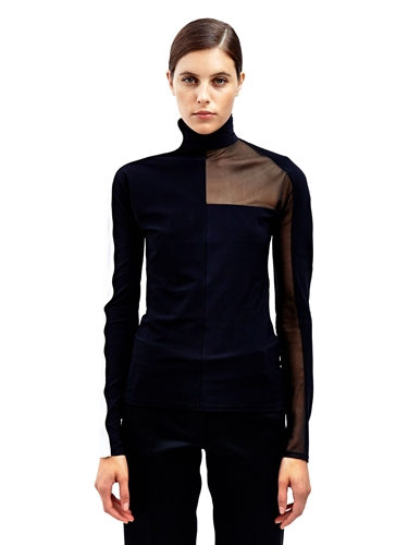 Paco Rabanne Womens Long Sleeved High Neck Top Ln Cc