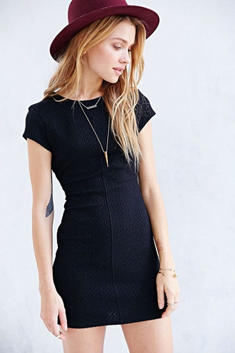 Silence Noise Textured Ponte Knit Mini Dress Urban Outfitters
