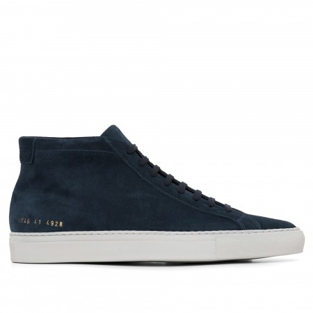 Common Projects Men's Original Achilles Mid Suede Navy