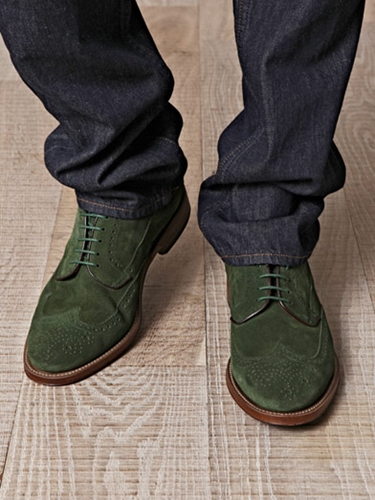suede brogue shoes green george shoes matchesfashion com. Black Bedroom Furniture Sets. Home Design Ideas