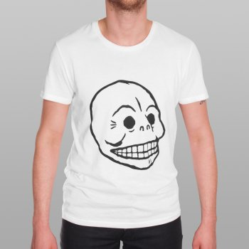 Cheap Monday T Shirt White Bruce Skull Buy Mens Designer Clothing At Denim Geek Online
