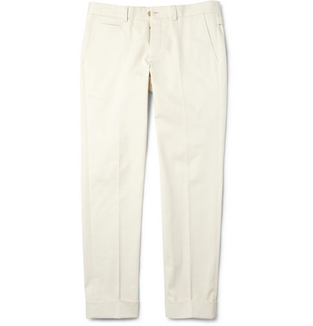 Gucci Brushed Stretch Cotton Twill Chinos MR PORTER