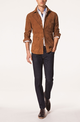 Suede Overshirt Coats And Jackets Garments Men Sweden
