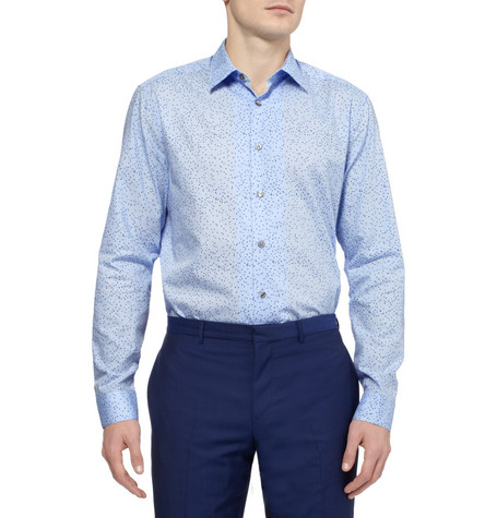 Paul Smith London Square And Heart Print Cotton Shirt Mr Porter