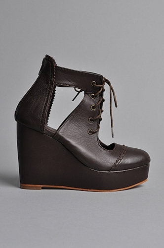 Handsom Winter Wedge Shoes Dark Brown someplace