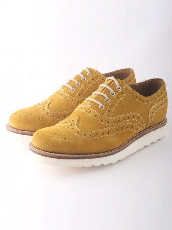 Grenson William Mustard Suede by Goodstead Goodstead
