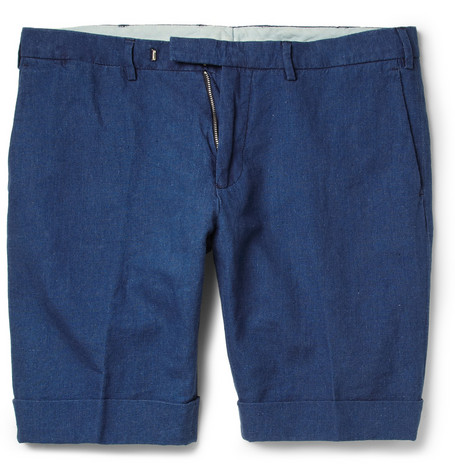 Gant Rugger Turn Up Linen And Cotton Blend Shorts Mr Porter