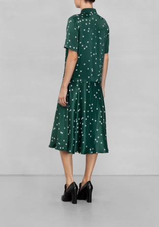 Other Stories Pearl Print Collar Dress