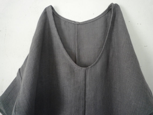 Rustic Linen Seam Dress By Leboutonunique On Etsy