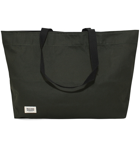 Blk Pine Simple Canvas Tote Bag In Olive Huh. Store