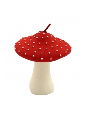 Red Cap Toadstool Candle Only 6.69 Unique Gifts Home Decor Karma Kiss