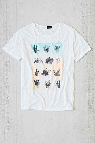 Poolhouse Crystals In Color Slub Tee Urban Outfitters