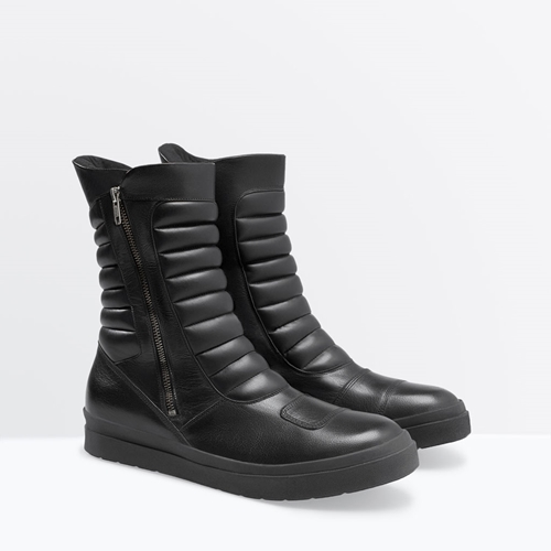 Leather Biker Boot Man New This Week Zara United States