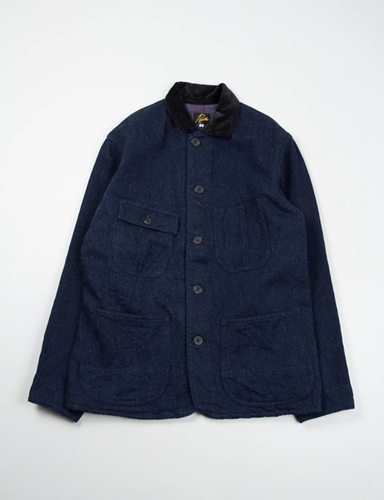 Indigo Wool Denim Coverall Jacket Needles