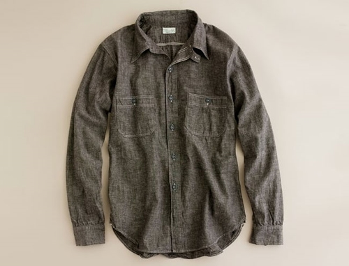 Heller s Cafe by Warehouse Sturdy Oak Workshirt at J Crew Gear Patrol